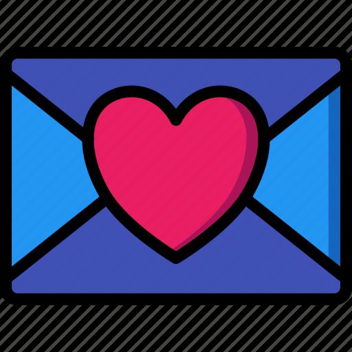 day, letter, love, romance, valentines icon