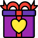 day, gift, romance, valentines icon
