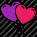 balloons, day, romance, valentines icon