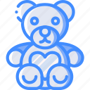 day, romance, teddy, valentines icon