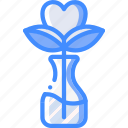 day, flower, heart, romance, valentines icon