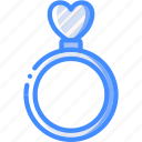 day, heart, ring, romance, valentines icon
