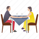 caring partner, dating, married couple, proposal, romantic couple icon
