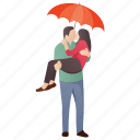caring partner, happy lovers, honeymoon, married couple, romantic couple icon
