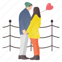 couple romance, honeymoon, loving couple, romantic couple, winter honeymoon icon
