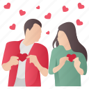first love, love message, lovers, lovers message, romantic couple icon