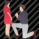 boy proposing, lifetime partners, love proposal, marriage proposal, proposing icon