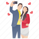 couple photography, couple selfie, couple shoot, lovers selfie, taking selfie icon