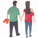 couple romance, couple walk, dating, married couple, romantic couple icon