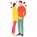 dating, love couple, lovers, partners, romantic couple icon