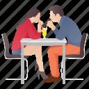 dating, drinking couple, loving couple, loving partners, romantic couple icon