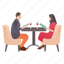 couple meeting, dating, drinking wine, lovers meeting, restaurant