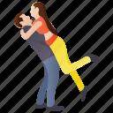 couple fun, couple joy, couple romance, lovers, romantic couple icon