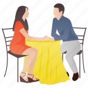 boy proposing, girl, lover proposing, married couple, proposal icon