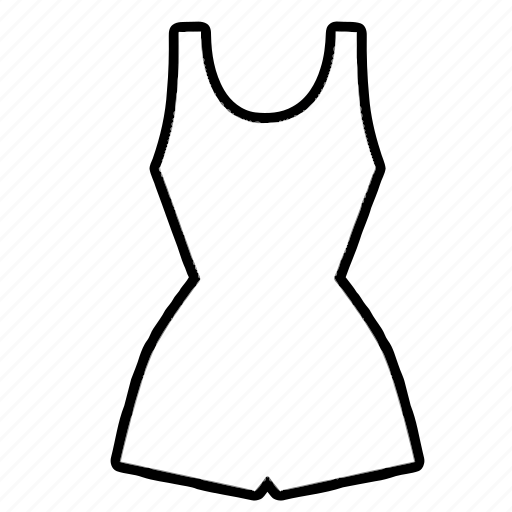 clothes, clothing, dress, fashion, romper, summer, swimsuit icon