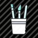 art, brush, design, paint, pencil, tools