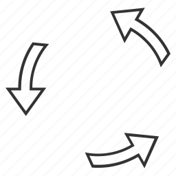 cycle, recycle, refresh, repeat, rotate, rotation arrows, spin icon
