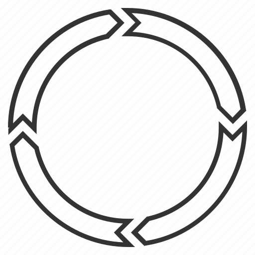 circle, cycle, recycle, refresh, repeat, rotate arrows, rotation ccw icon
