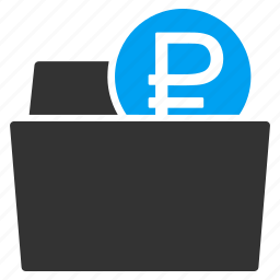 billfold, financial, folder, money, purse, rouble, wallet icon