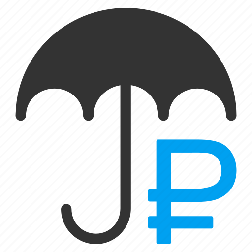 guard, insurance, protect, protection, rouble, safety, umbrella icon