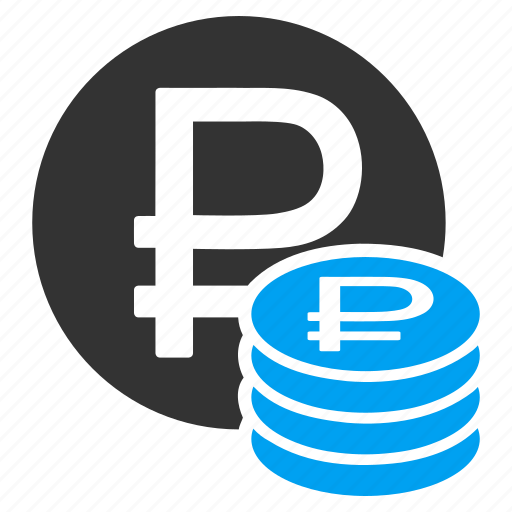 cash, coin stack, coins, currency, finance, money, rouble icon