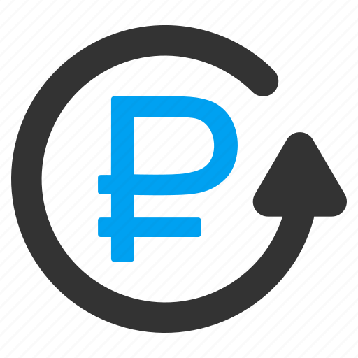 cancel payment, chargeback, money back, refund, restore, rouble, undo transaction icon