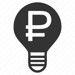 bulb, certificate, idea, license, money, patent, rouble icon