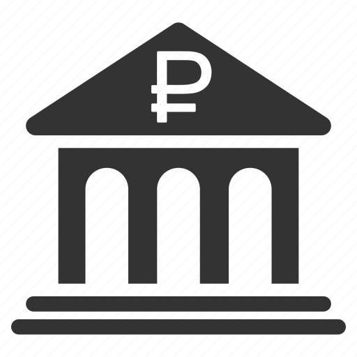 architecture, bank building, banking, finance, library, office, rouble icon