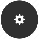 dark, gear, grey, preferences, settings, system icon