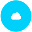 blue, cloud, guardar, save, server, sky, space, store, upload icon