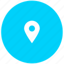 blue, location, map, point icon