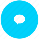 blue, chat, im, message, quote icon