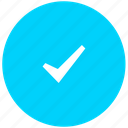 blue, correct, done, tick icon