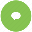 chat, green, im, message, quote icon