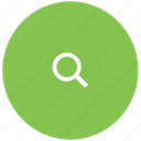 find, glass, green, magnifying, search icon