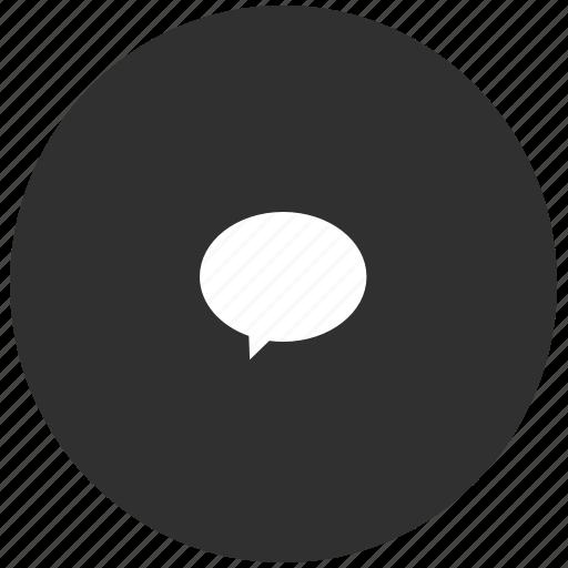 chat, dark, grey, im, message, quote icon