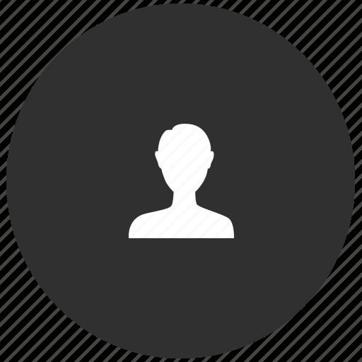 dark, me, people, person, user icon
