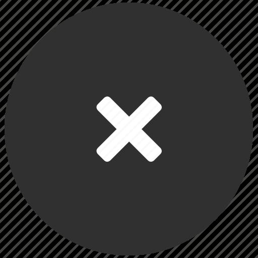close, dark, delete, dismiss, x icon