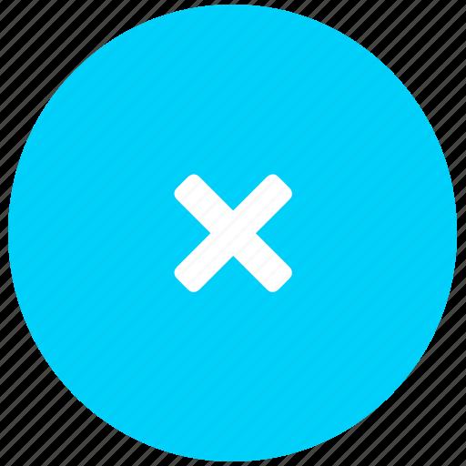 blue, close, delete, dismiss, incorrect, x icon