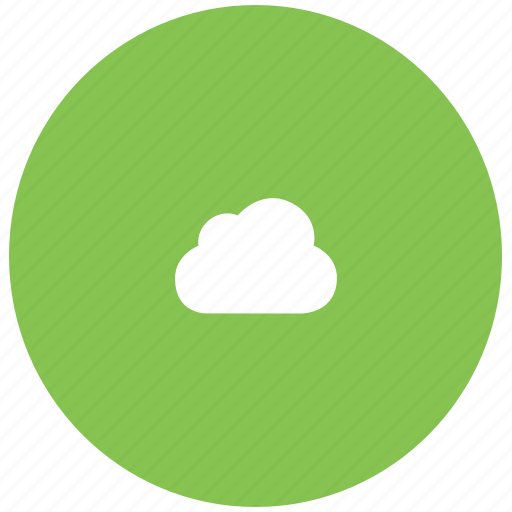 cloud, green, guardar, save, server, sky, store icon