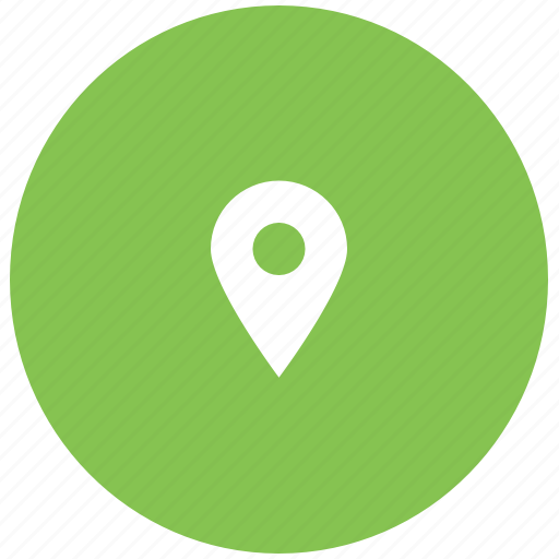 green, location, point icon