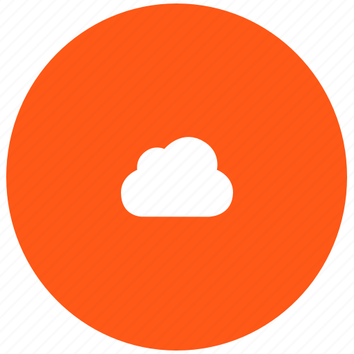 cloud, red, server, sky, space, store icon