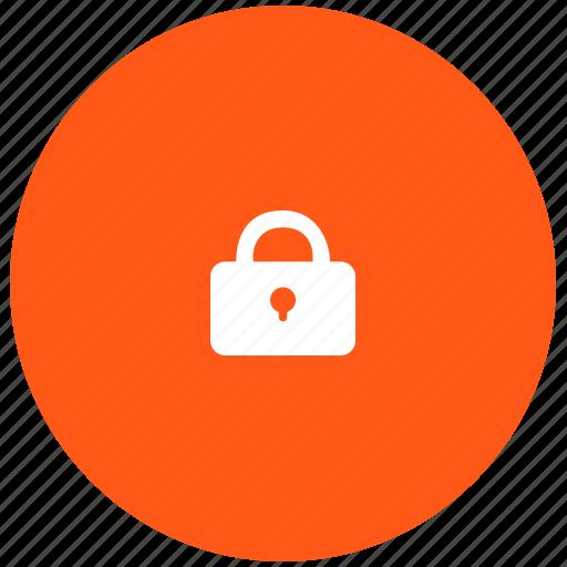 closed, keylock, keypad, lock, red, secure icon