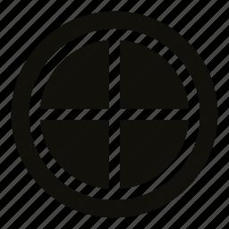 attic, circle, circle window, glass, window icon