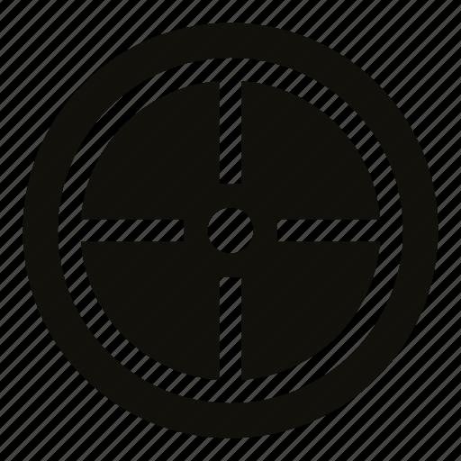 aim, aiming, circle, crosshair, point, sniper, target icon
