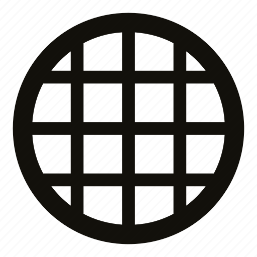 cage, cell, circle, drain, filter, lattice, pipe icon