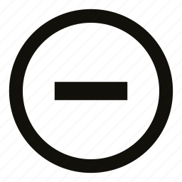 circle, collapse, count, minimize, minus, remove, value icon