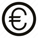 cash, circle, coin, currency, eur, euro, money
