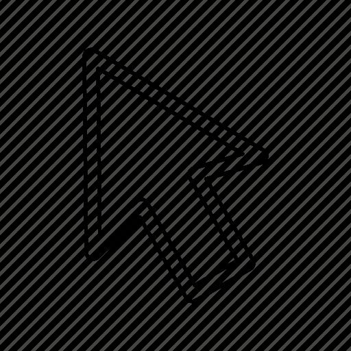 arrow, click, cursor, mose icon