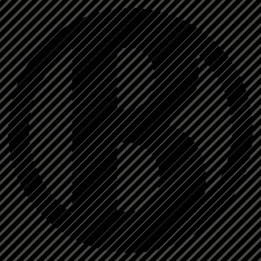 alphabet, b, character, round, social icon